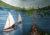 3D obraz volně přecházející ve vodovodní kohoutek