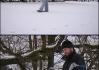 Brůůdži před nárazem sněhové koule..