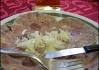 Komplet homemade, včetně cibule.. Za pozornost stojí též vidlička..