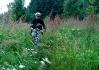 Bikeři jezdí přes Semenec..