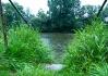 Řeka Lužnice v dešti..