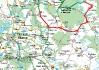 Vyhnanice mapa trasy (ranní a odpolední trasy se protly v Březnici..)